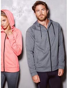 Vyrški sportiniai perf džemperiai su gobtuvu