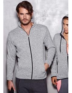 Vyriški megzto fliso džemperiai su užtrauktuku