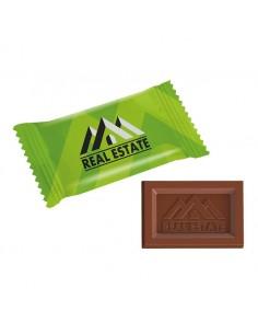 Stačiakampiai šokoladukai mini logo flow pack