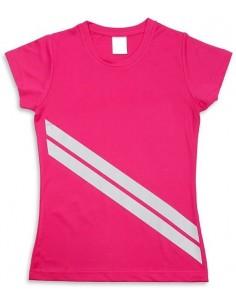 Moteriški marškinėliai su atšvaitinėmis juostomis
