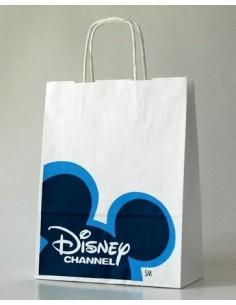 Balti KRAFT popieriniai maišeliai su suktomis rankenomis