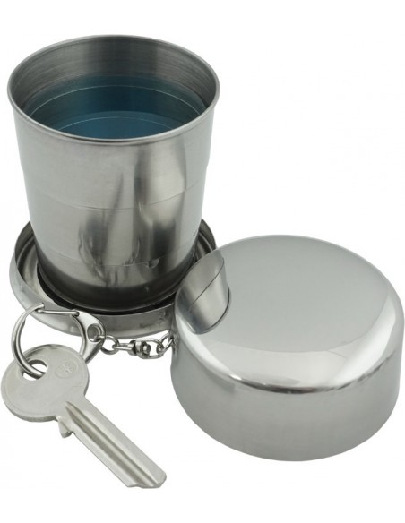 Raktų pakabukas su 130ml sulankstoma metaline stikline