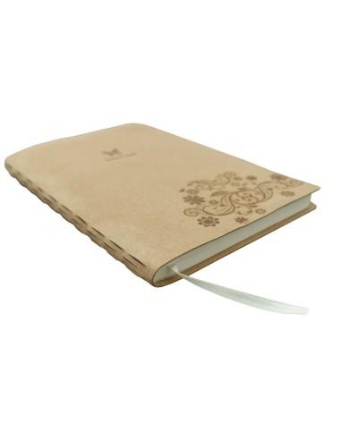 Užrašų knygelė su naturalios odos viršeliu