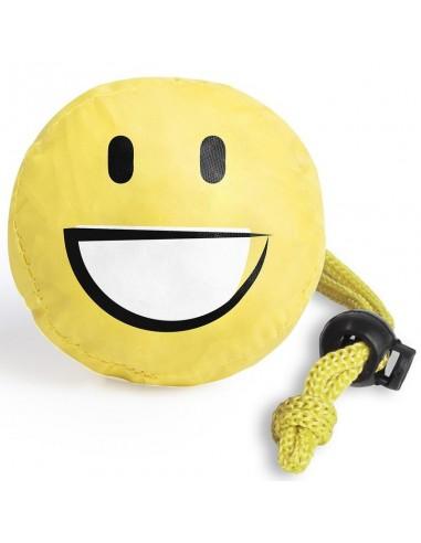 Sulankstomi pirkinių krepšiai Smiling face