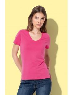 Moteriški marškinėliai V formos kaklu