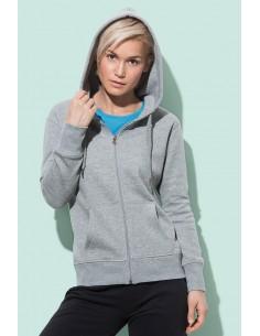 Moteriški džemperiai su užtrauktuku ir gobtuvu