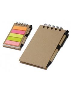 Bloknotas ALF su įvairių spalvų žymekliais ir rašikliu
