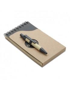 Ekologiška užrašų knygutė su rašikliu Natunote