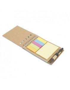 Užrašų knygutė MULTIBOOK su rašikliu ir lipniais lapeliais