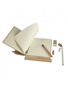 Ekologiška užrašų knygutė PACKPAT su raštinės reikmenimis