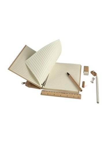 Užrašų knygutė PACKPAT su raštinės reikmenimis