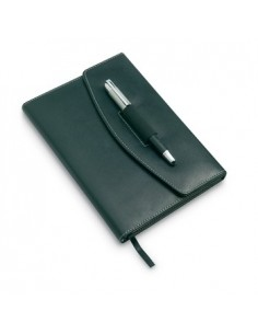 Dirbtinės odos užrašų knygutė su rašikliu Nova