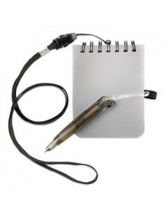 Maža užrašų knygutė MEMOMINI su rašikliu ir kaklajuoste