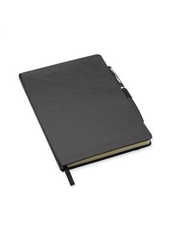Juoda A6 formato užrašų knygutė su tušinuku Notalux