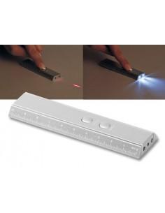 LED žibintuvėliai su lazeriu ir liniuote
