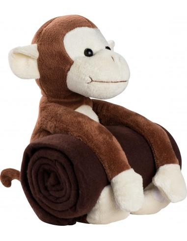 Pliušinė beždžionėlė su pleduku Boo