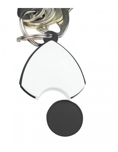 Plastikinis raktų pakabukas su moneta