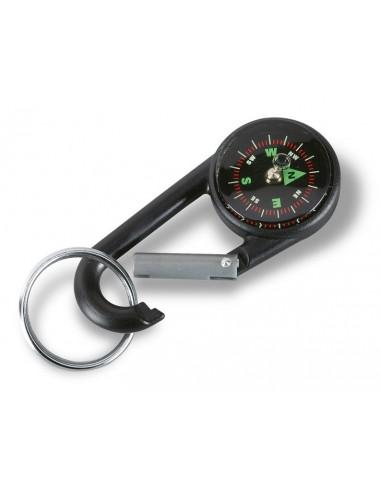 Raktų pakabukas su kompasu ir karabinu