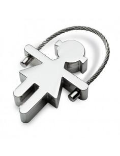 Berniuko ar mergaitės formos raktų pakabukai