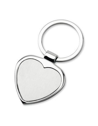 Metalinis širdelės formos raktų pakabukas