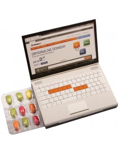 Pastilės lizdinėje pakuotėje Mini laptop