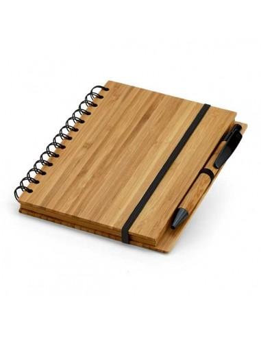 Užrašų knygutė bambukiniu viršeliu