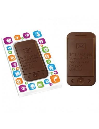 Išmaniojo telefono formos šokoladas