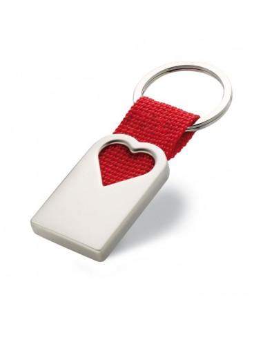 Metalinis raktų pakabukas su širdele