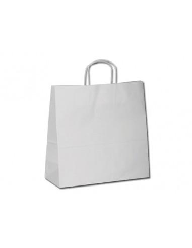 Popieriniai krepšiai su trumpomis rankenomis